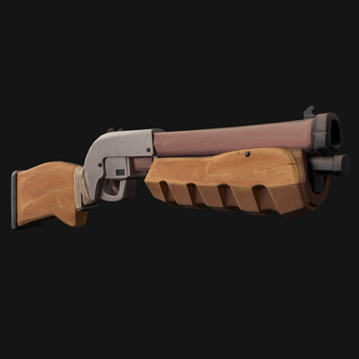 Stylized PBR Shotgun (Weekend Project)