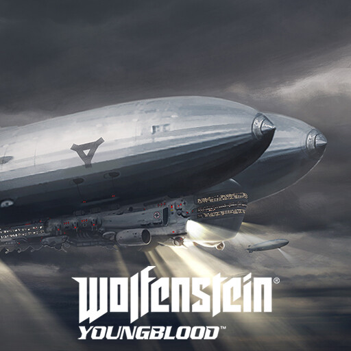 Wolfenstein Youngblood - Class A zeppelin concept