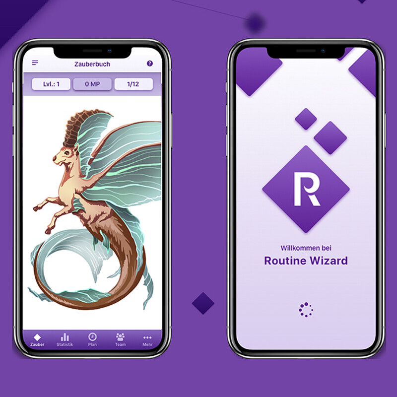 Routine Wizard – UI / UX Design & Game Art
