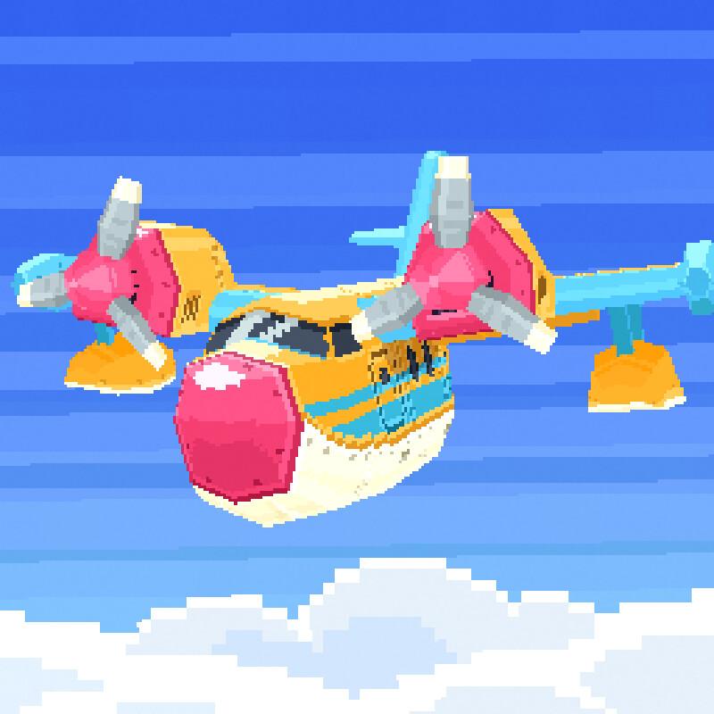 Pixel Seaplane