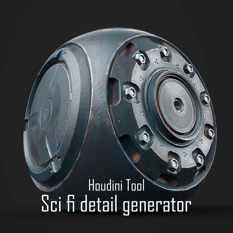 Sci-fi detail bolt generator