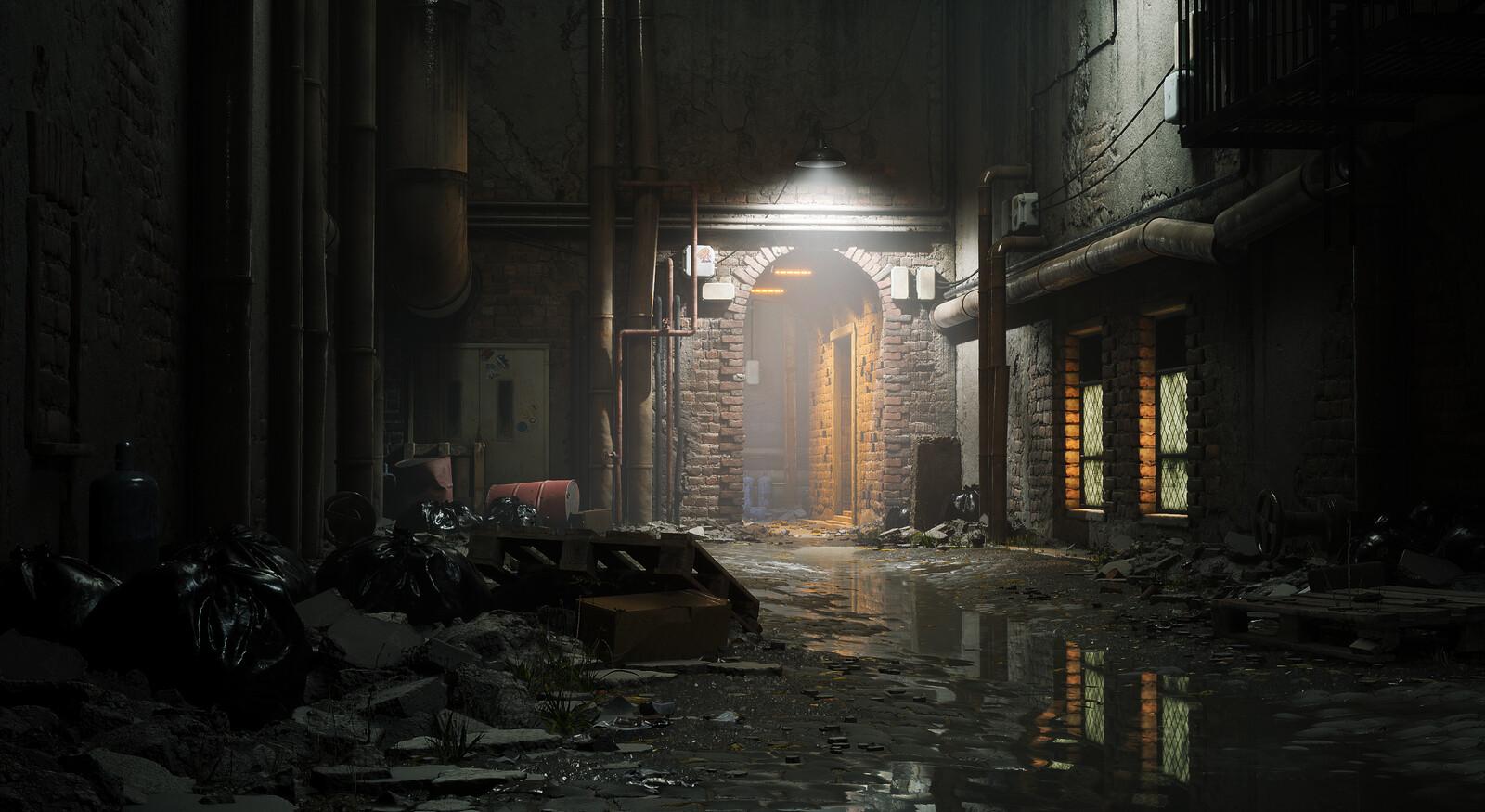 Abandoned Alleyway (Unreal)
