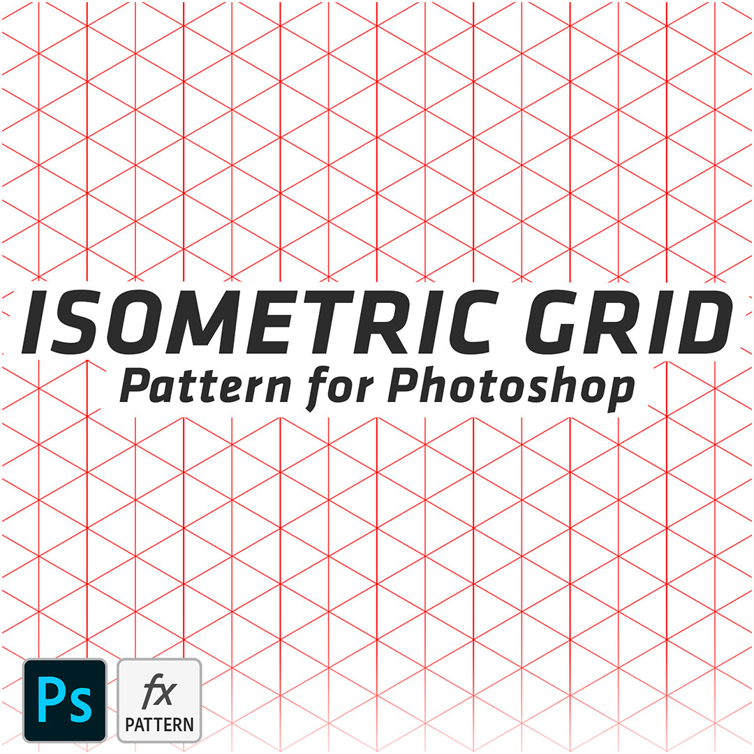 Isometric Grid - Pattern for Photoshop