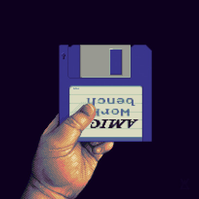 Commodore Amiga 500 boot screen revamp Pixel Art
