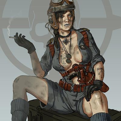 Eddie bennun tank crew girl color