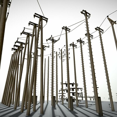 Dennis haupt modular power poles by 3dhaupt 2