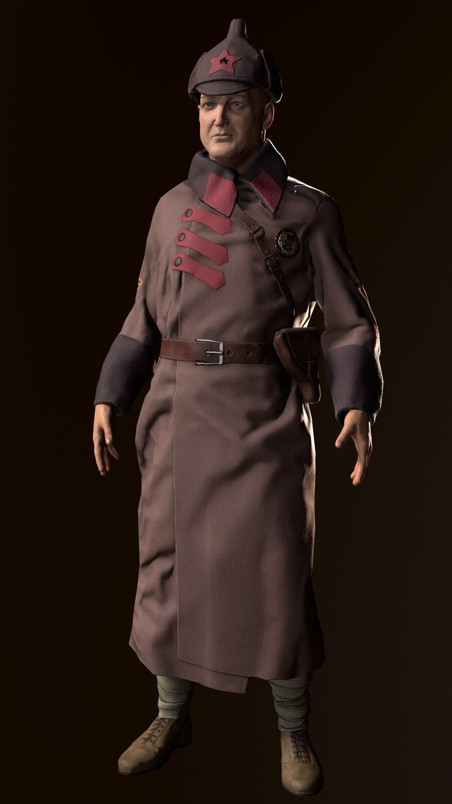 Russian civil war characters for UE4