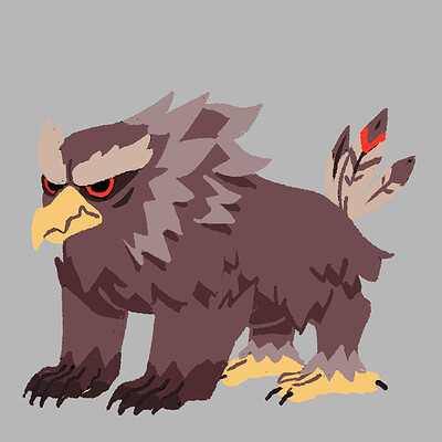 Clementine frere owlbear allfours colors 1