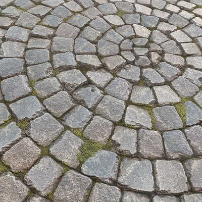 Old Cobbled Pavement - Substance Designer Material