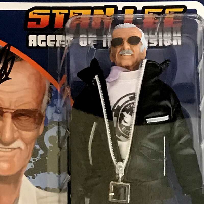 Official Stan Lee Collectibles Action Figure Package Design