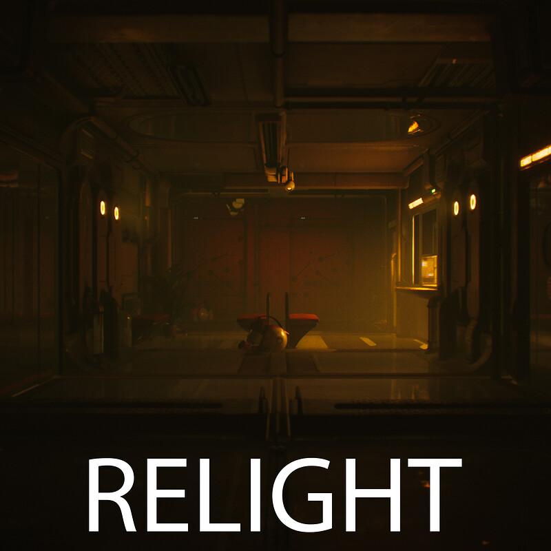 Scifi Hallway Relights UE4.16