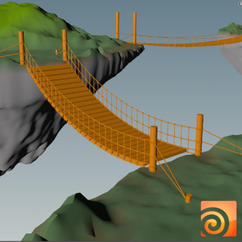 Procedural Bridge in Houdini