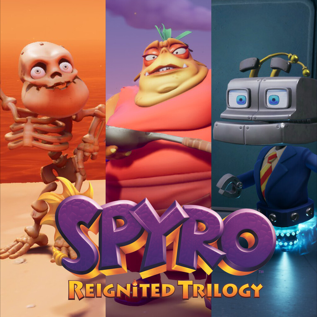 Spyro Reignited Trilogy - Various Works
