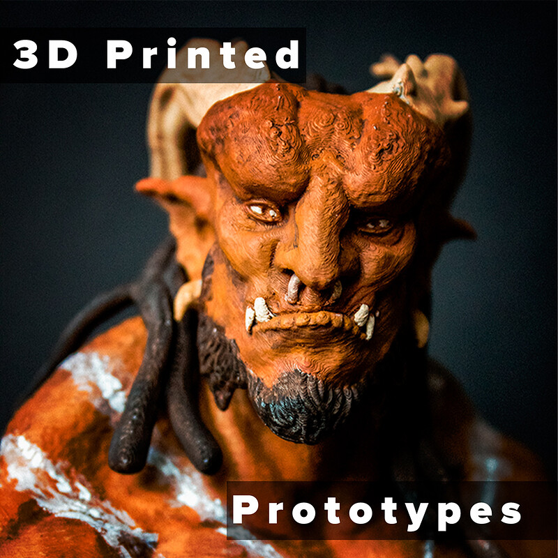 3D Printed Prototypes (Figures)
