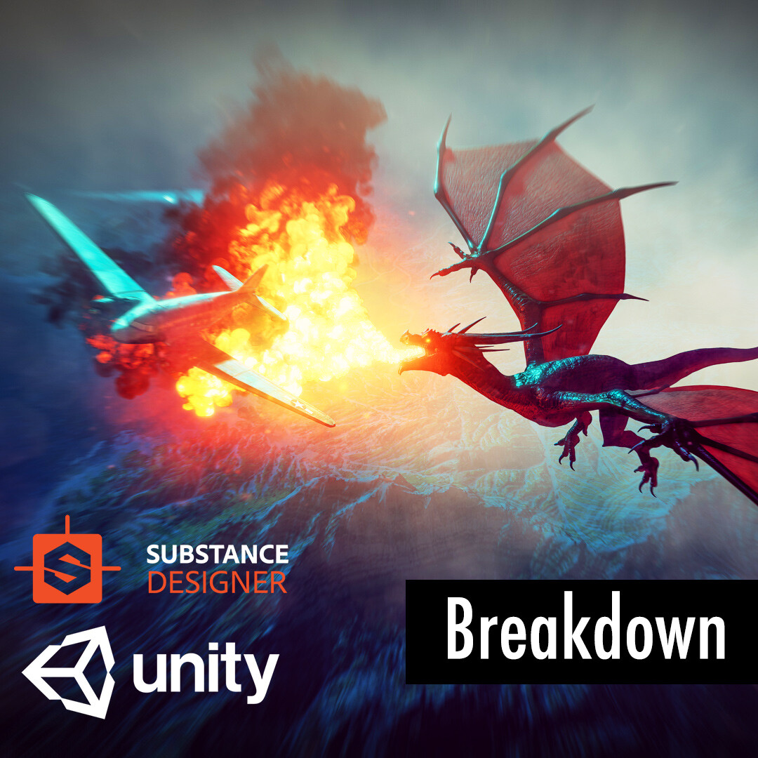 making of the dragon vs c47 scene with substance designer & unity3d