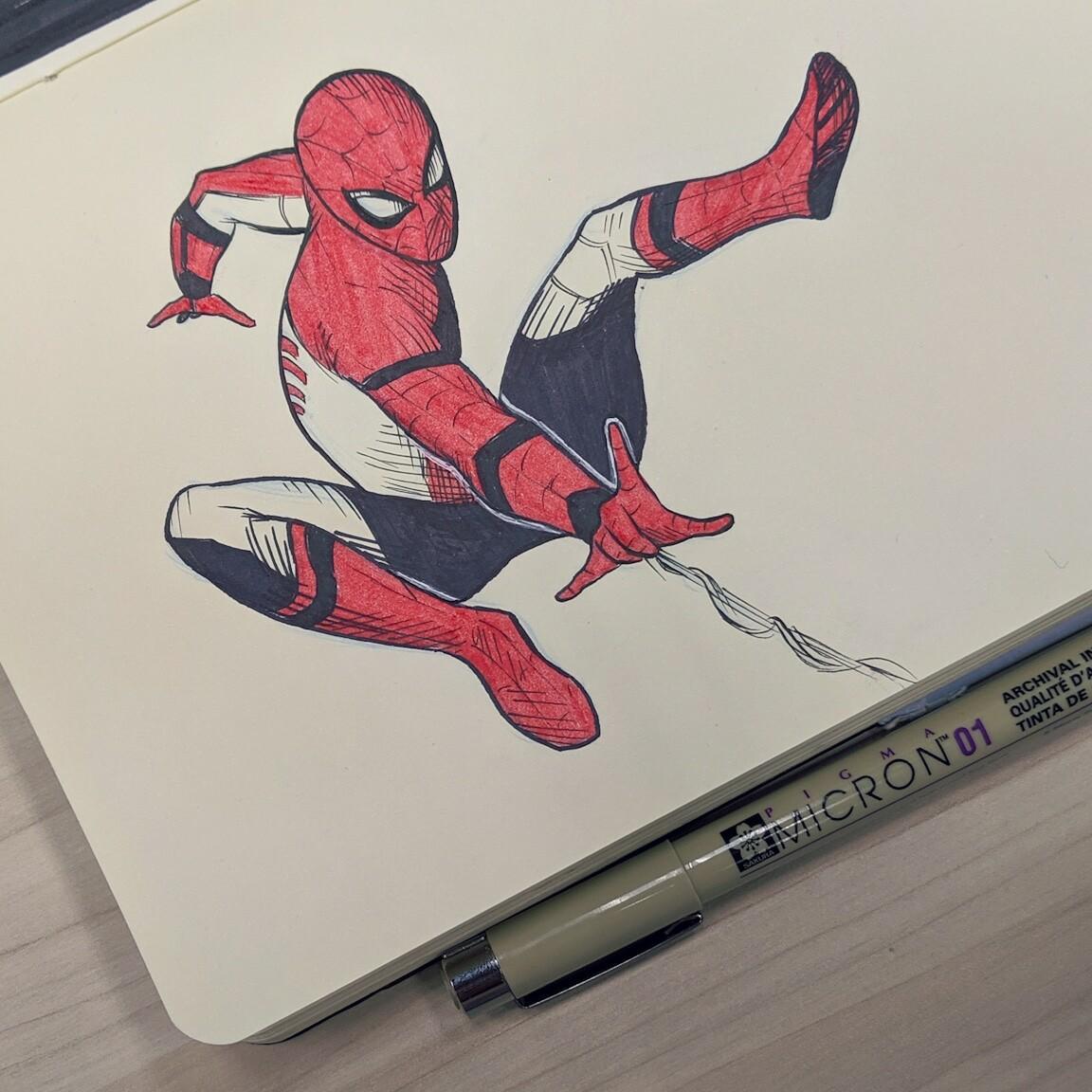 Inktober 2019 - Spider-Verse