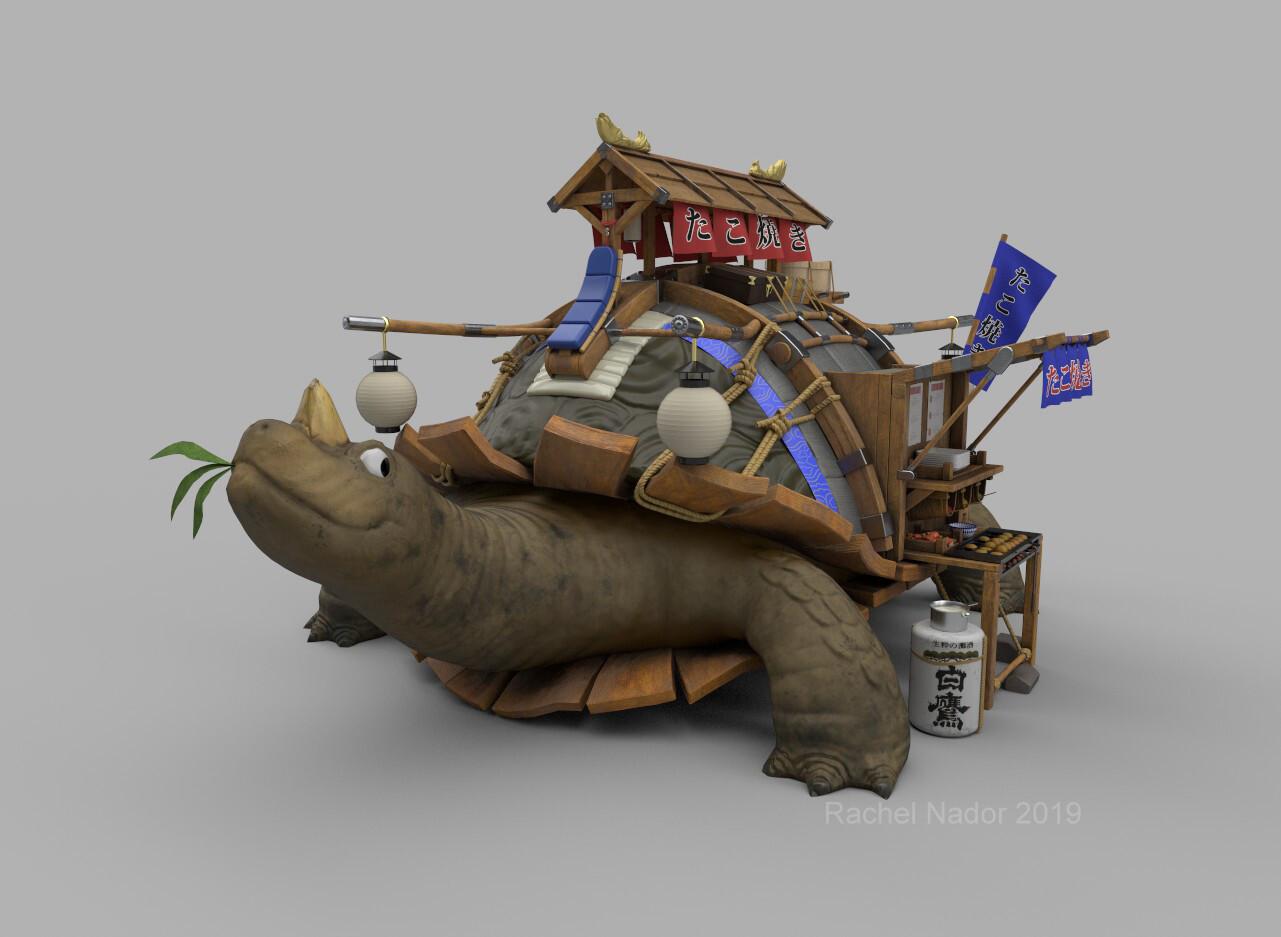 Takoyaki Turtle 3D Model