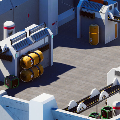 Adam idris vr mobile stylized industrial complex 6 isometric