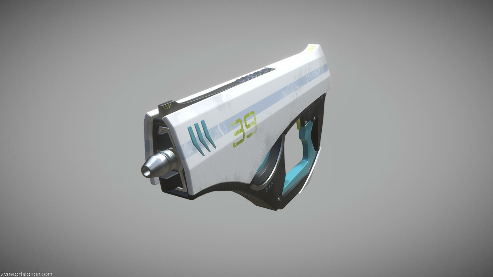 Tracers Pulse Pistol \ Concept Skin [Overwatch Fanart]