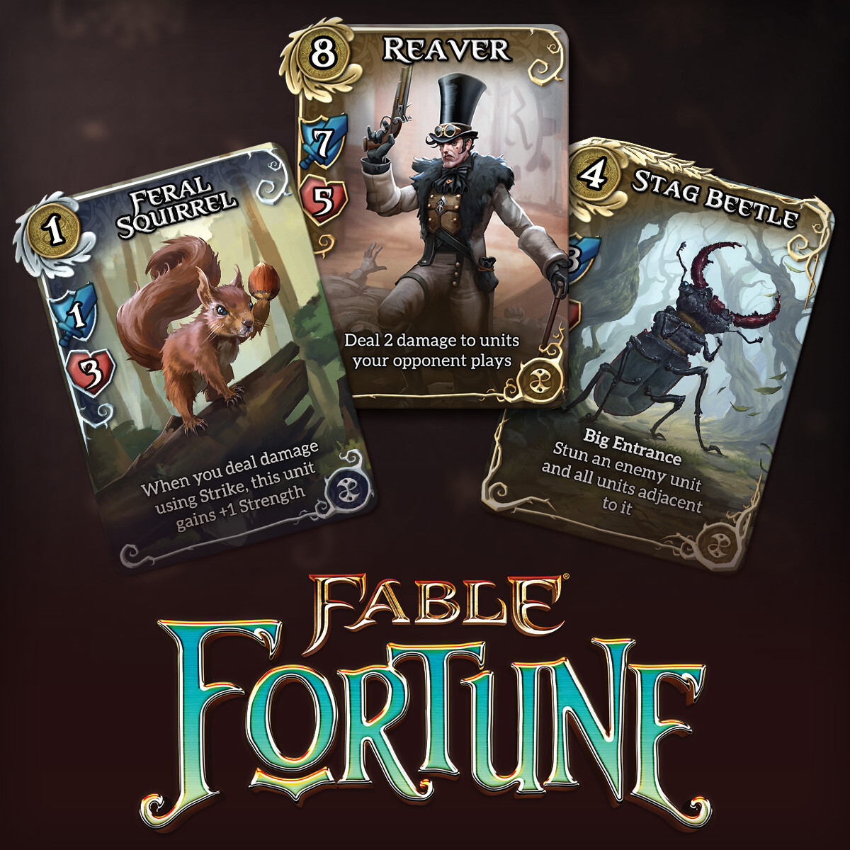 Jenny Brewer - Fable Fortune Card Design