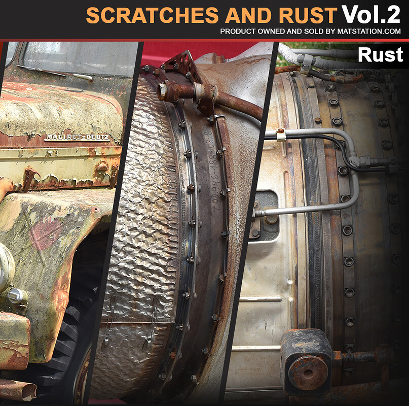 Photo Pack - Scratches and Rust - Vol.2