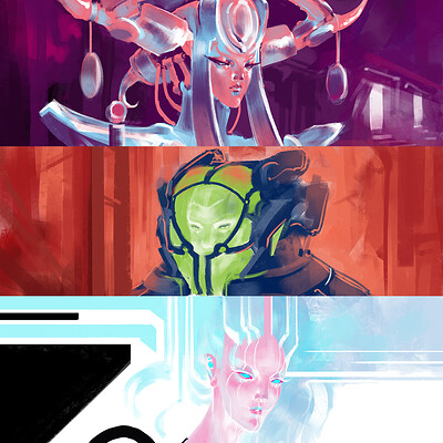 Atom cyber sketch direct colors3 mix pic