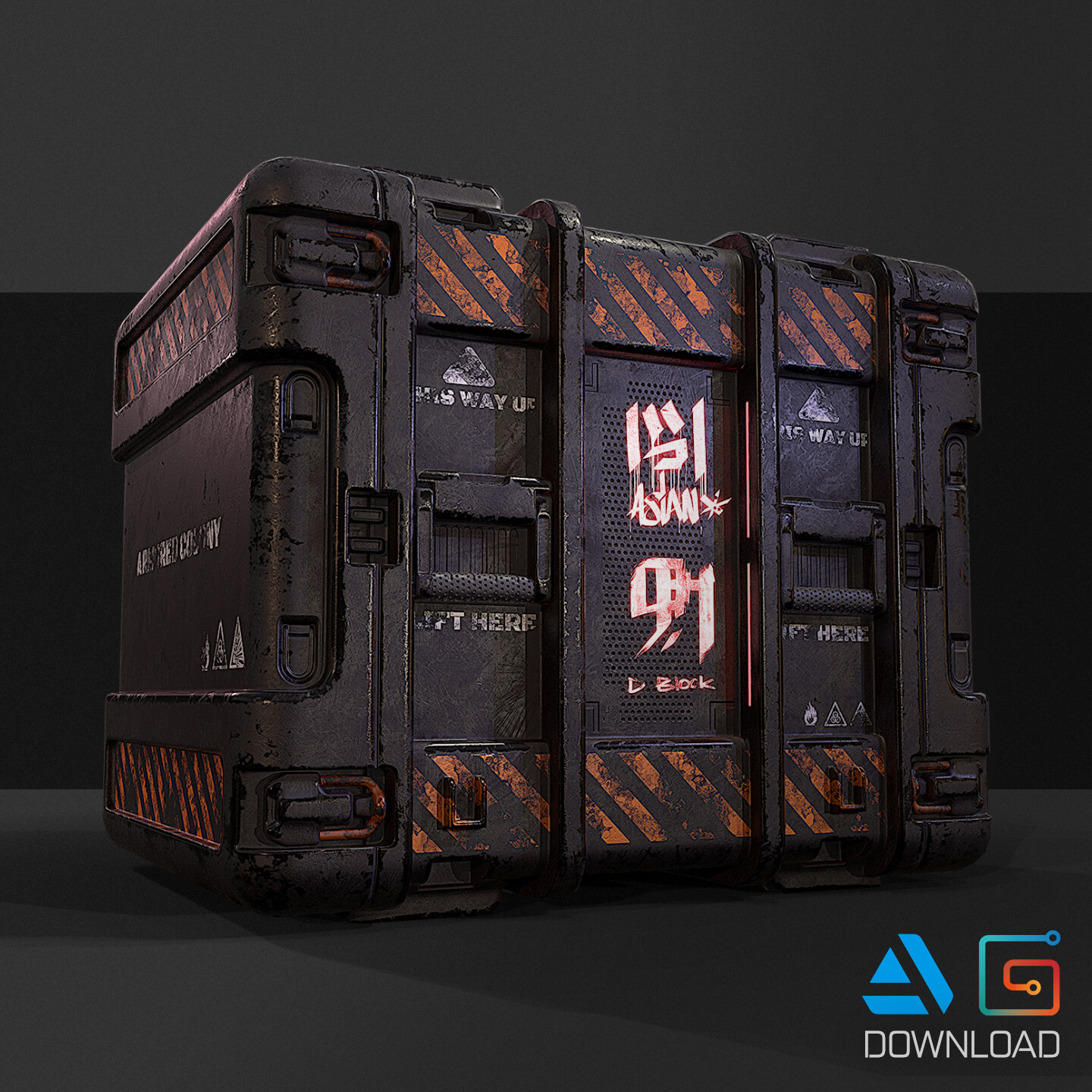 Animated Crate Asset