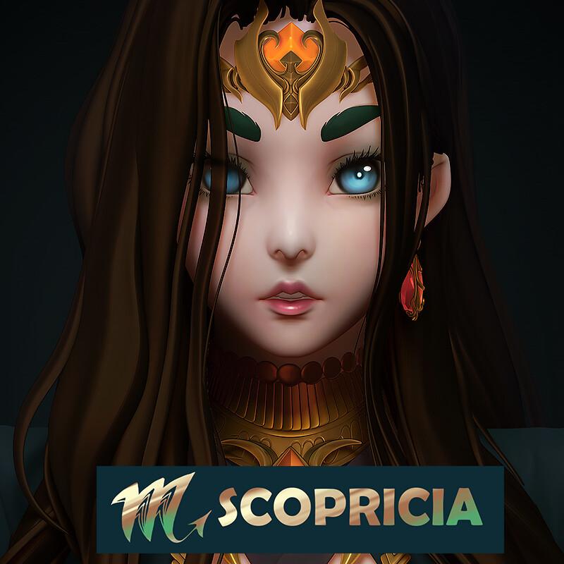 Scopricia bust sculpt