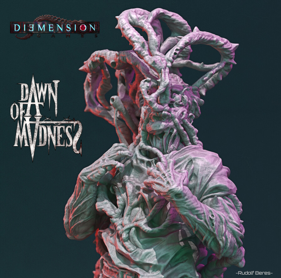 Dawn of Madness Man invaded by plants