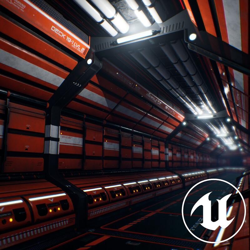 Sci-Fi corridor // Modular environment