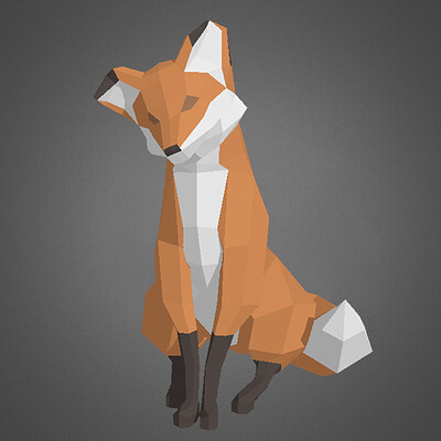 Felicia hellsten low poly fox as logo