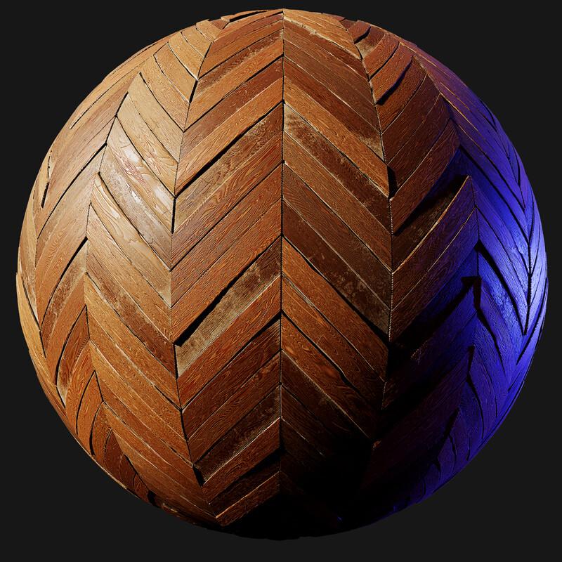 Chevron Wood Floor - Material Study