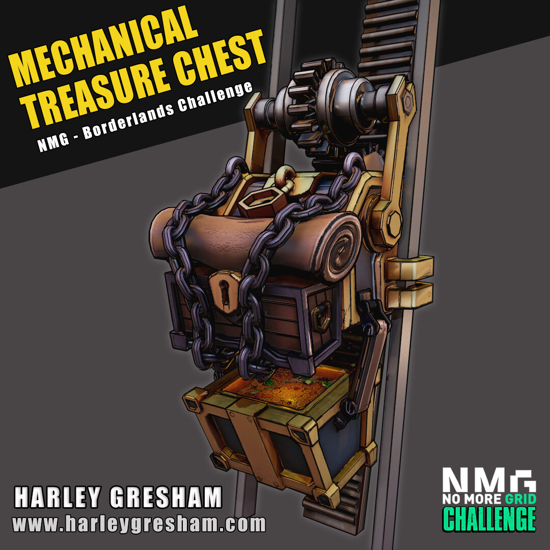 Mechanical Treasure Chest - NMG Borderlands 3 Competition Entry