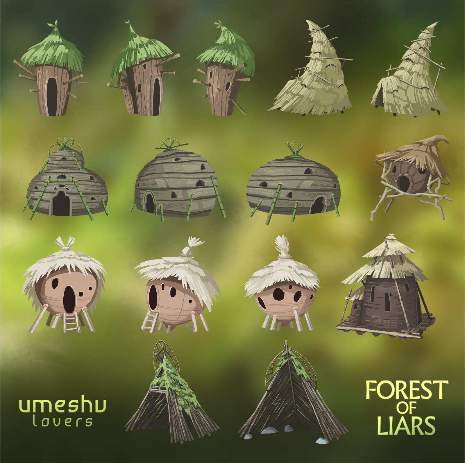 Various assets for Forest of Liars by Umeshu Lovers