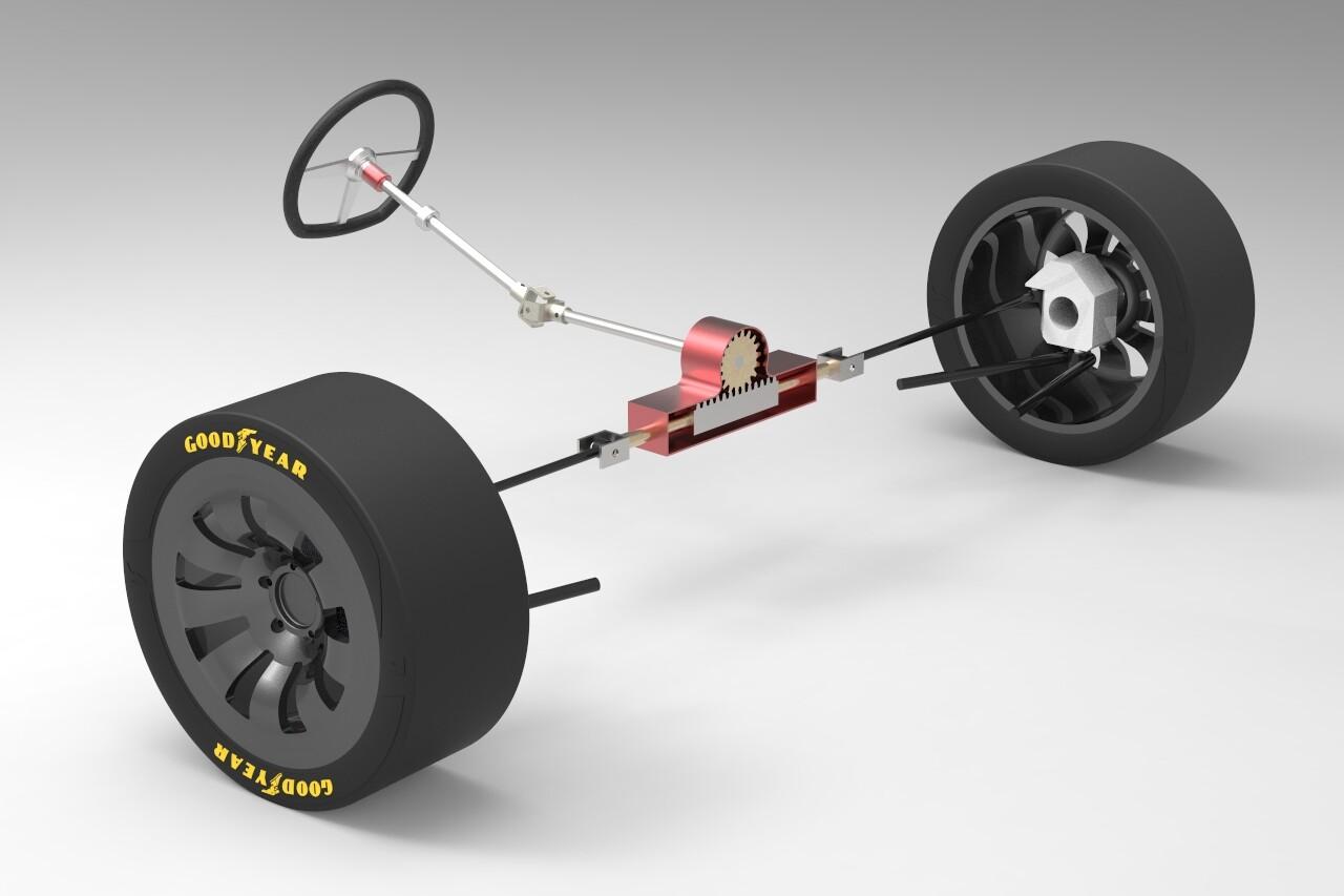 Artstation Simple Rack Pinion Steering System Brian Kim