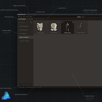 Material Machine App UI/UX Concept