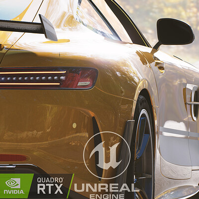 Unreal Engine - AMG GTR Forest Scene (RTX)