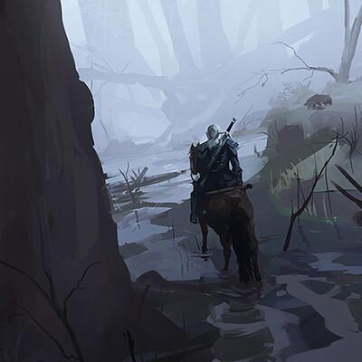Mateusz michalski geralt swamp speed paint3
