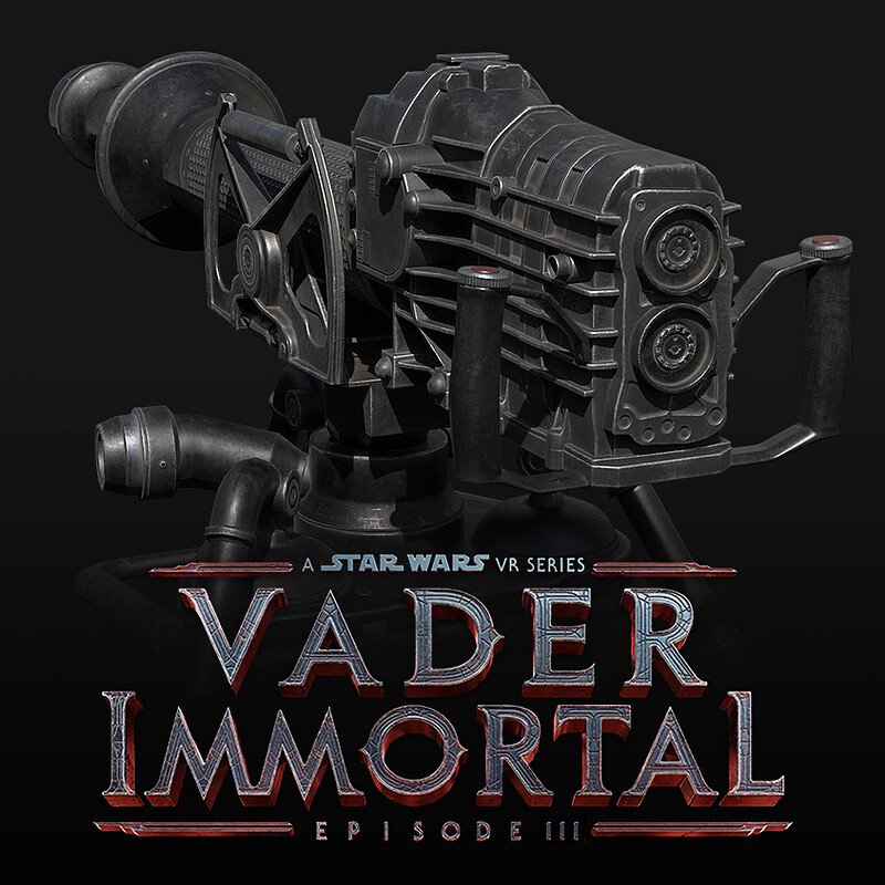 Vader Immortal: Episode III - E-Web Heavy Repeating Blaster