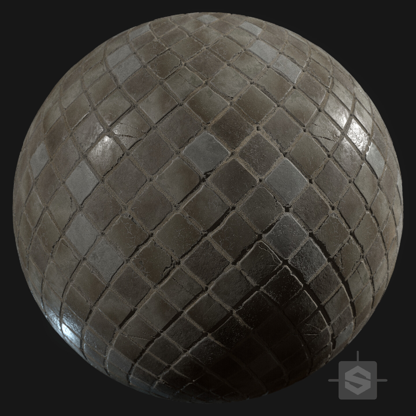 Substance Designer - Stone Bathroom Tiles