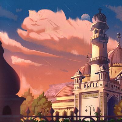 Qi xyuan tan masjid kk sign