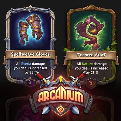 Arcanium. Card Artworks