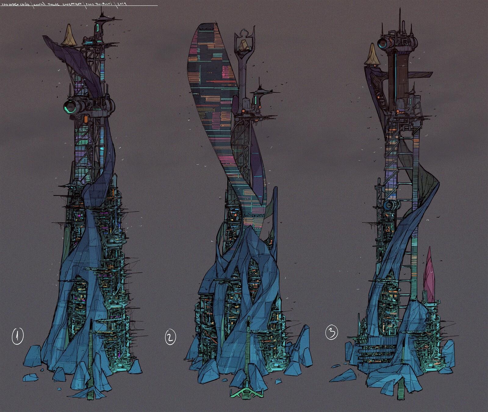 Indigo child - tower concept art