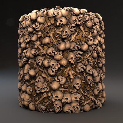 Federico guerra skeleton pile