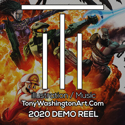 Tony washington art station demo reel art