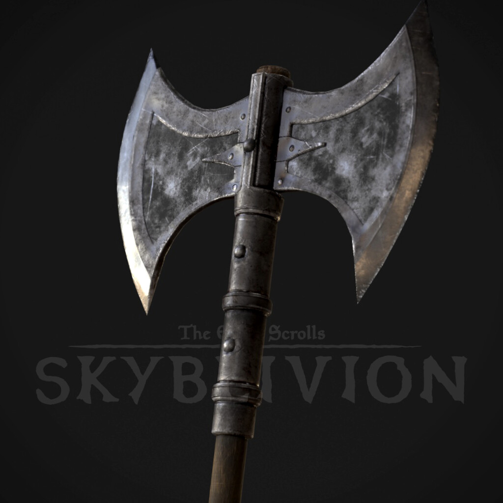 Battle Axe - Iron Weapons Set (TES:Skyblivion)