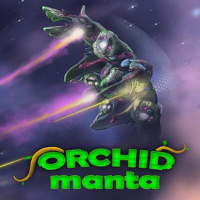 Igor puskaric orchid manta artstation thumbnail