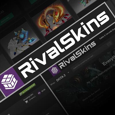 RivalSkins Logo, UI & Branding
