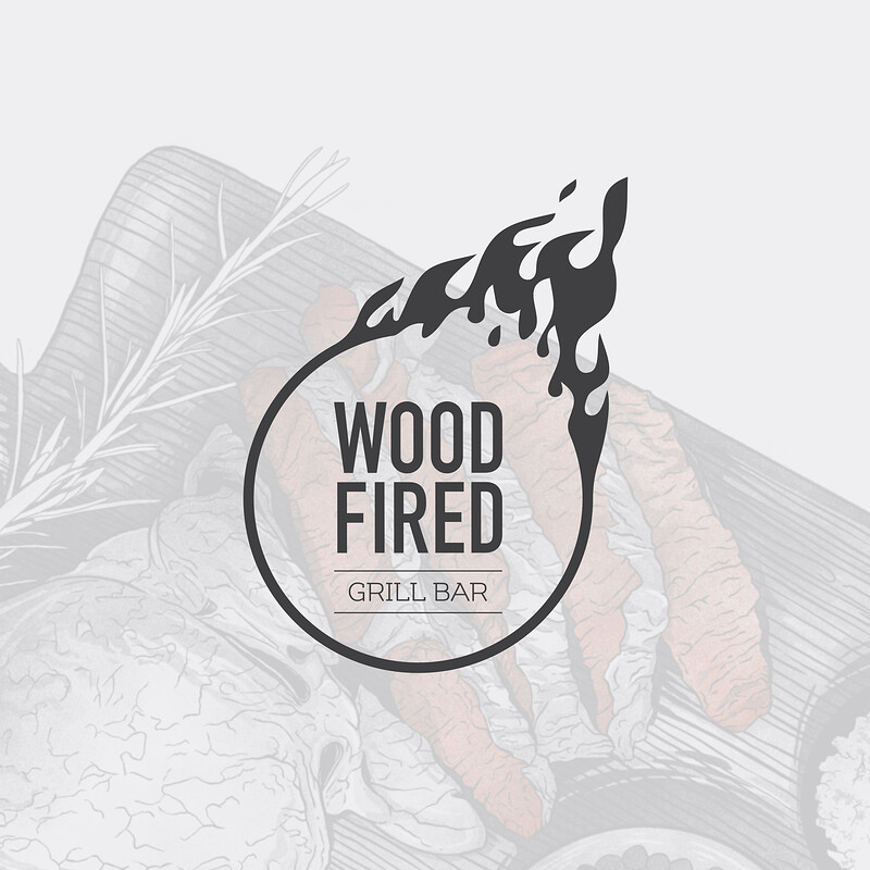 Wood Fired. Identity with Illustrations.