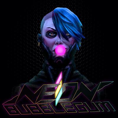 Adam thompson neon bubblegum square as